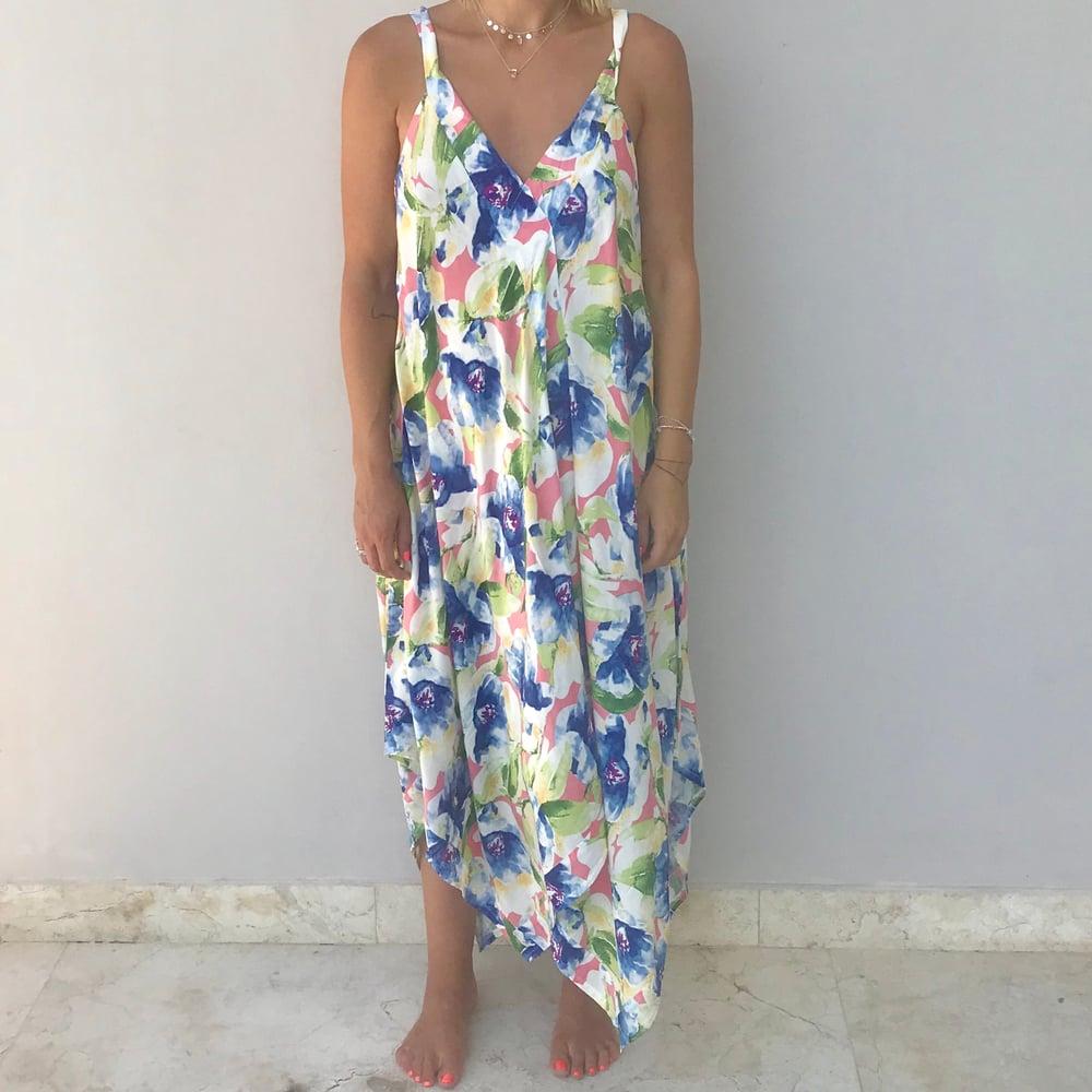 Image of Classic MAUI Dress | Pink Blue Green