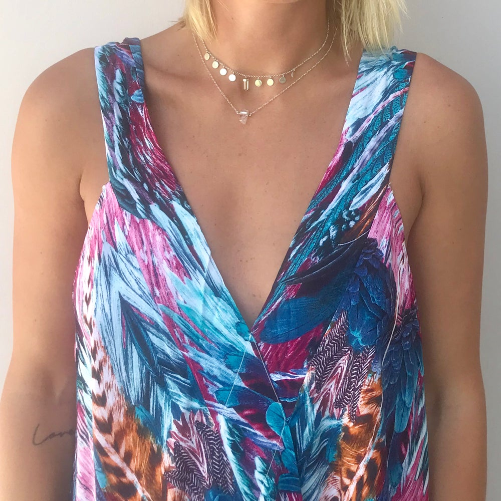 Image of Classic MAUI Dress | Pink Blue Feather