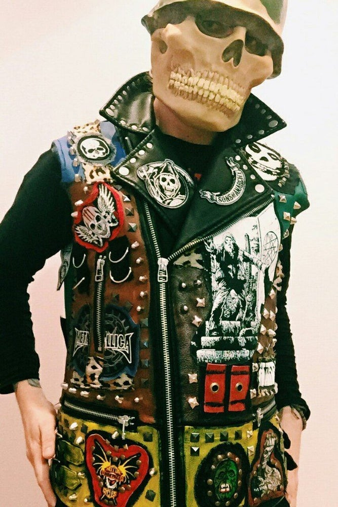 Image of Studded Thrasher Leather Vest