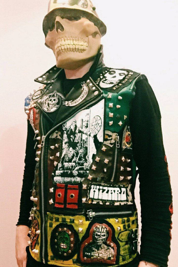 Image of Studded Thrasher Leather Vest