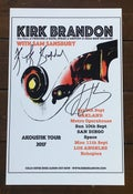 Image of KIRK BRANDON aKoustiK USA 2017 Signed Poster