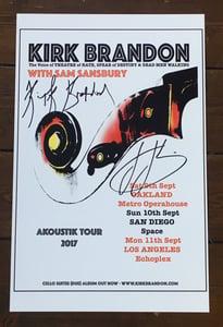 Image of KIRK BRANDON aKoustiK USA 2017 Signed Poster