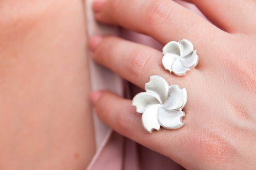 Image of Bague Double Garden Party