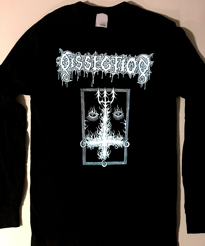 "Image of DISSECTION "" Cross "" Men's  Long Sleeve T-shirt"