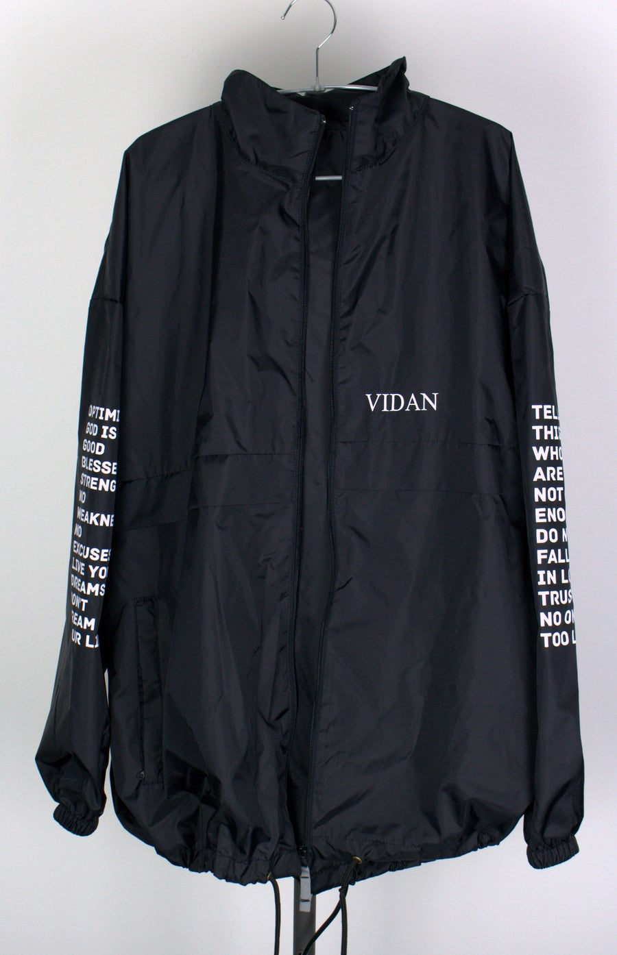 Image of Lyrics Windbreaker BLK/WHT