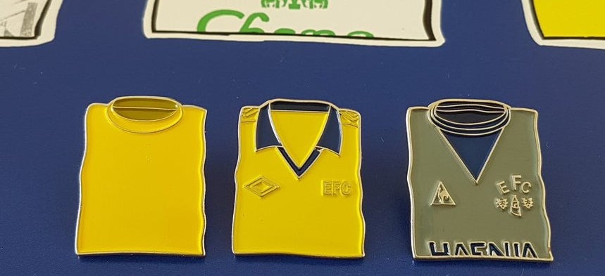 Image of Everton Away Pin Badges (A WSAG / hallyink collaboration)