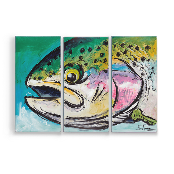 Image of Rainbow Hen Metal Box Triptych