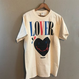 "Image of The ""Lover"" Tee Multi in Cream"