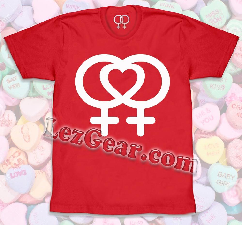 Image of LEZ Love LEZ (heart) LOGO / RED