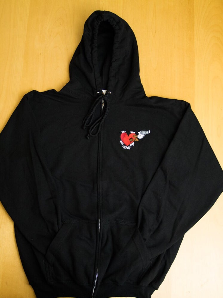 """Image of QTRS """"Get Hate Out Your Heart"""" Zip Up Hoodie"""
