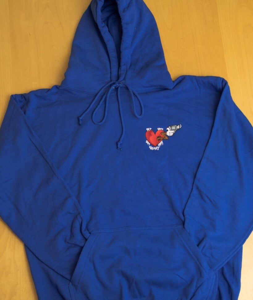 """Image of QTRS """"Get Hate out Your Heart"""" Pullover Hoodie"""