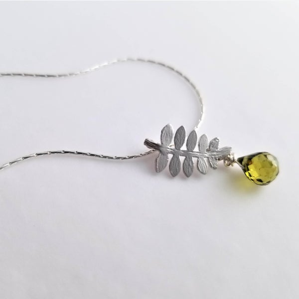 Image of Tiny Fern Necklace - Silver or Gold