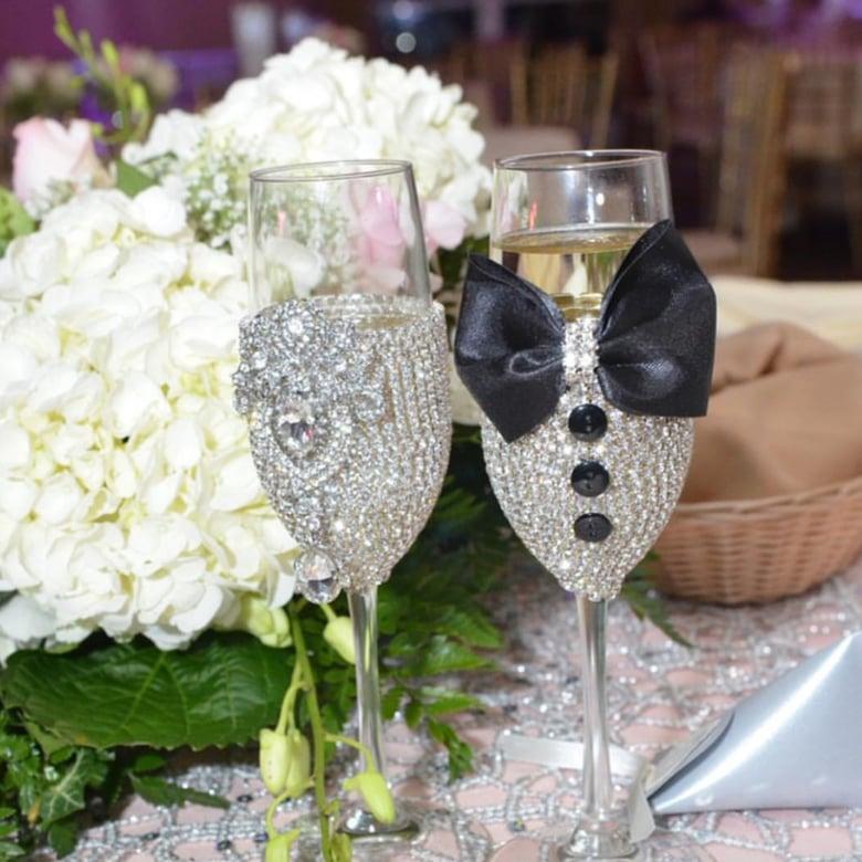 "Image of ""Teresa"" Bling Champagne Set"