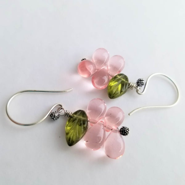 Image of Tea Rose Earrings