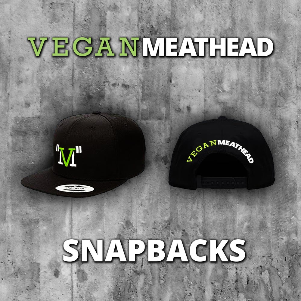 Image of Vegan Meathead Snapback Hat (embroidered logo)
