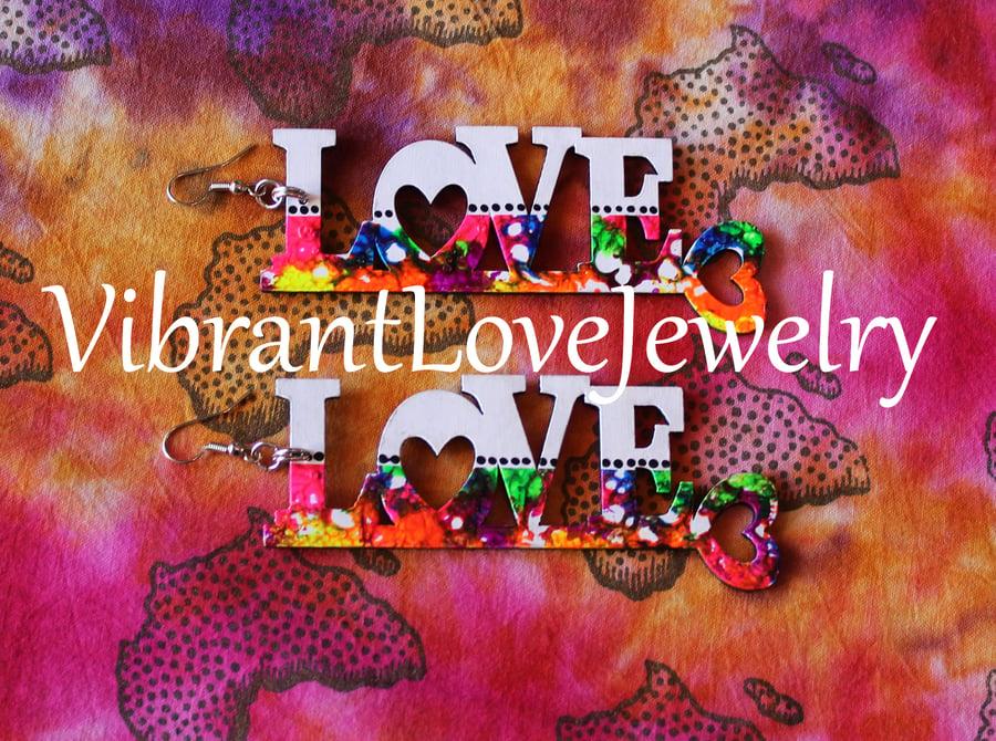 """Image of """"Love"""" Earrings!"""