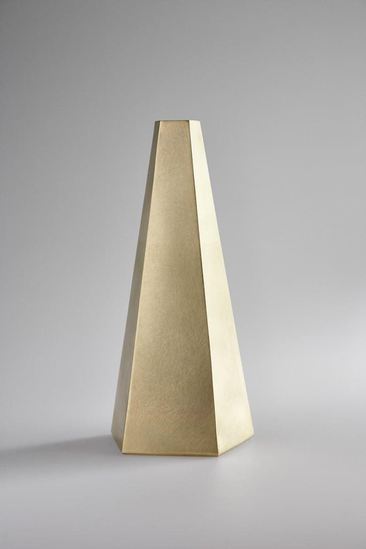 Image of Pentagonal Brass Vase