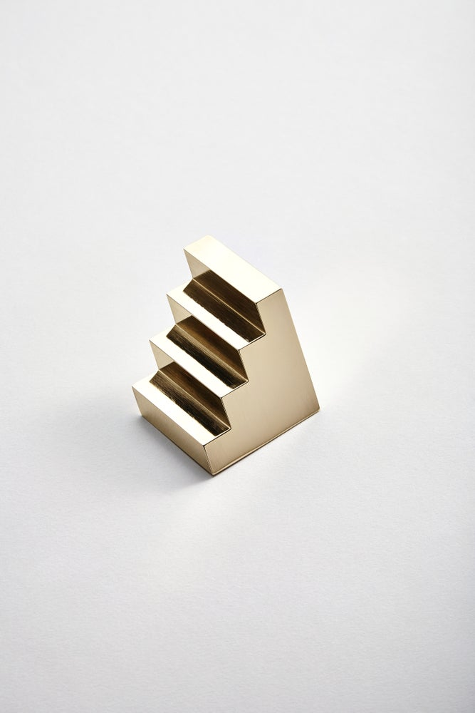 Image of Brass Staircase Paperweight (Polished)