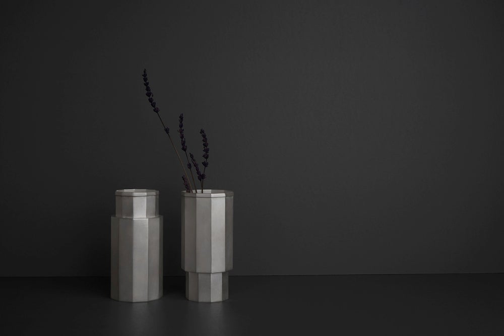 Image of Nonagonal 925 Silver Vase (Exhibition Work)
