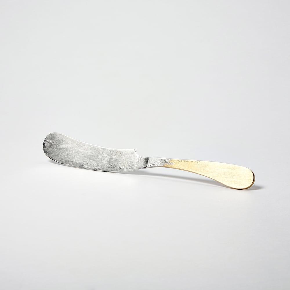 Image of Tinned Brass Butter Knife
