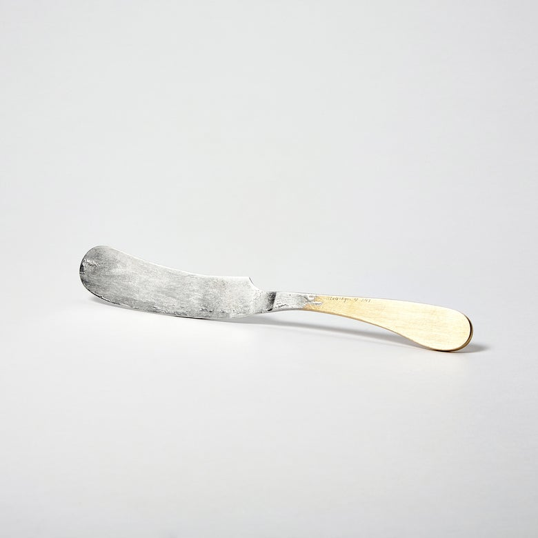 Image of Tinned Brass Butter Knife
