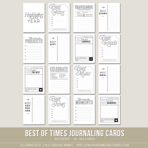 Image of Best of Times Journaling Cards (Digital)