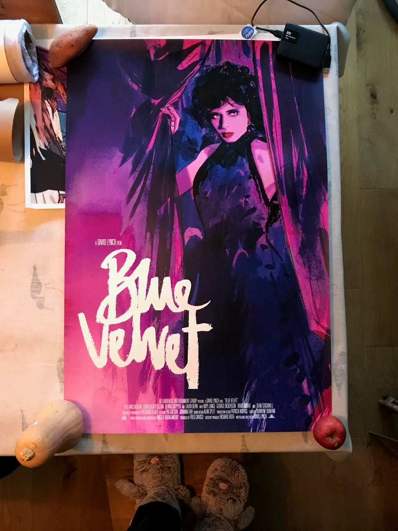 Image of BLUE VELVET SCREENPRINT