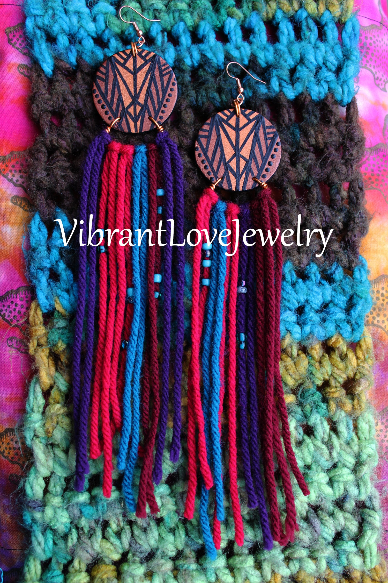 "Image of ""Brown Suga Rainbow"" Earrings!"