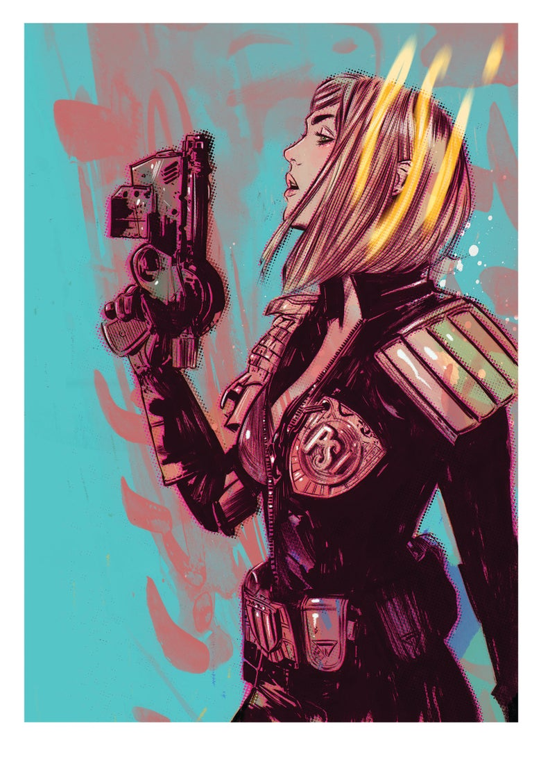 Image of Judge Anderson Signed and Numbered Giclee.