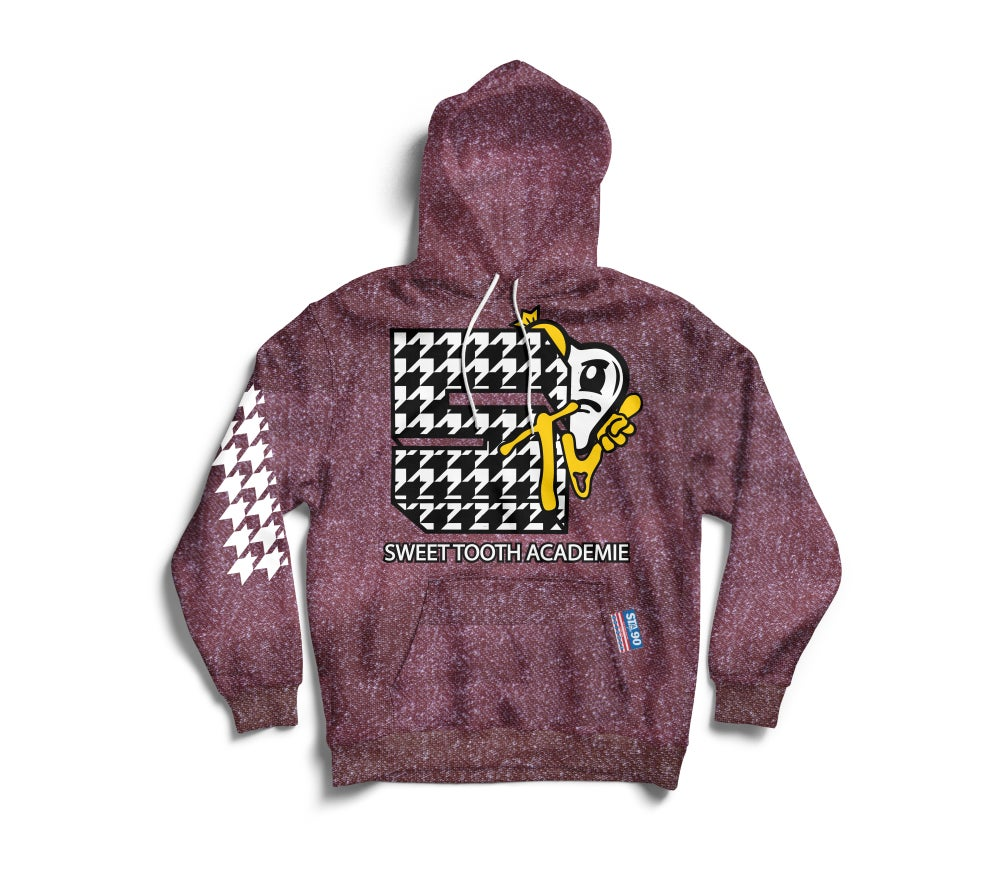 Image of STA TV MAROON HEATHER HOODY