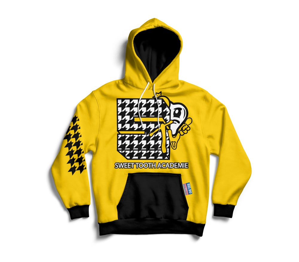 Image of STA TV YELLOW & BLACK HOODY