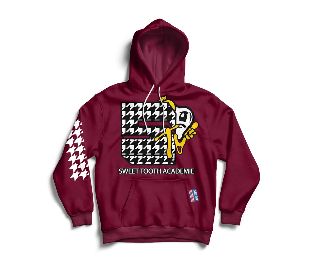 Image of STA TV HOODY MAROON