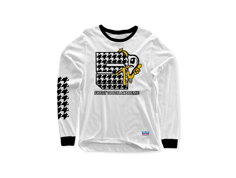 Image of STA MTV LONG SLEEVE WHITE & BLACK