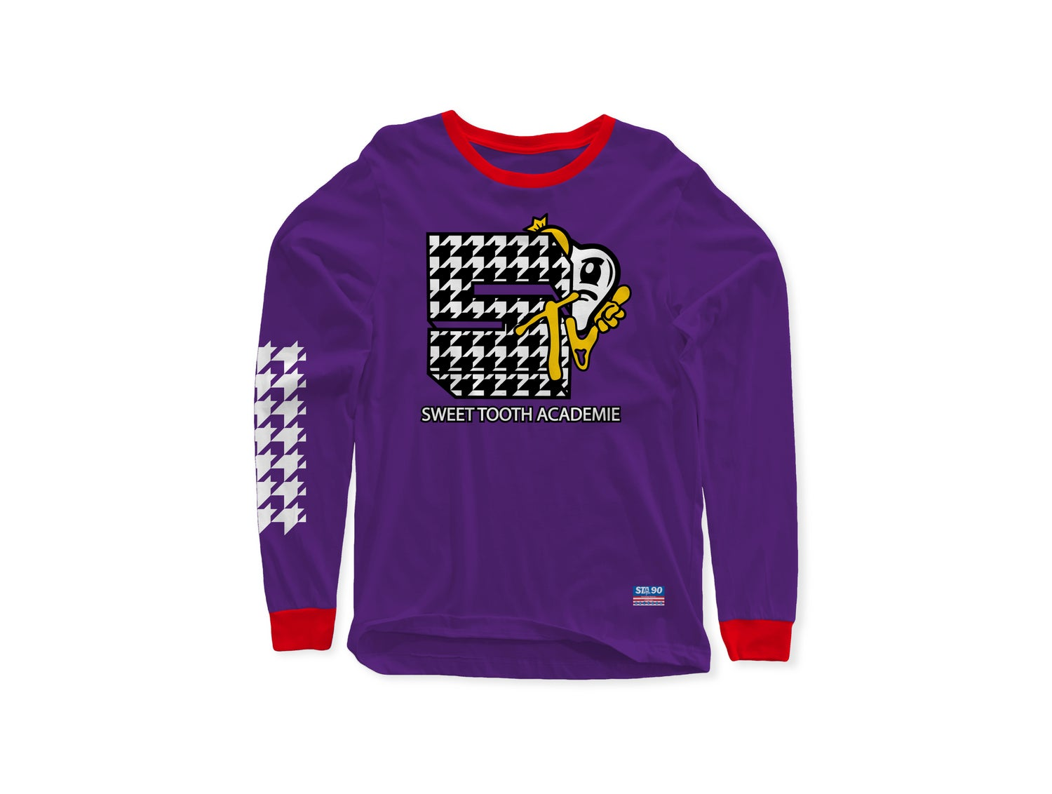Image of STA TV PURPLE AND RED LONG SLEEVE TEE