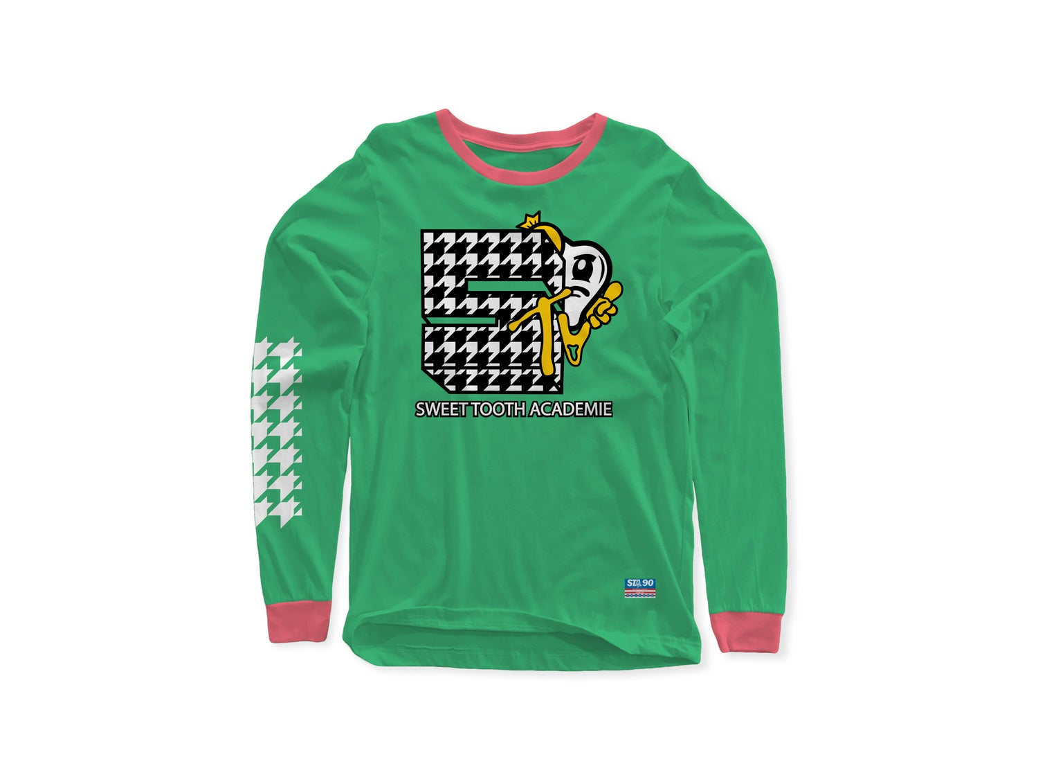 Image of STA TV SEAFOAM & PINK LONG SLEEVE