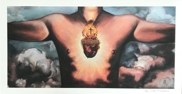 Image of Sacred Heart (Small Print) 13x24 inch