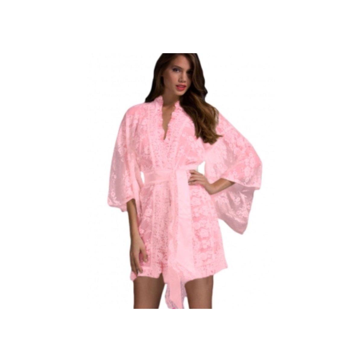 Image of Barbie Pink Lace Kimono