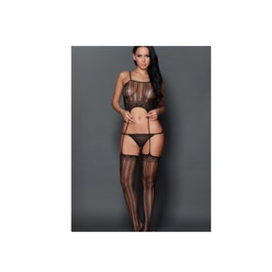 Image of Stripped Suspender BodyStocking