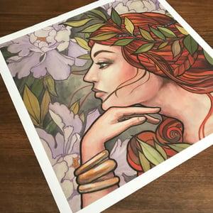 Image of Art nouveau girl (Large Print) 24x24 inch