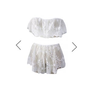 Image of Sleepless in White Two Piece Lace Set