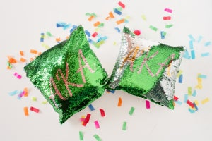 Image of AKA Mermaid Sequin Accent Pillow Case