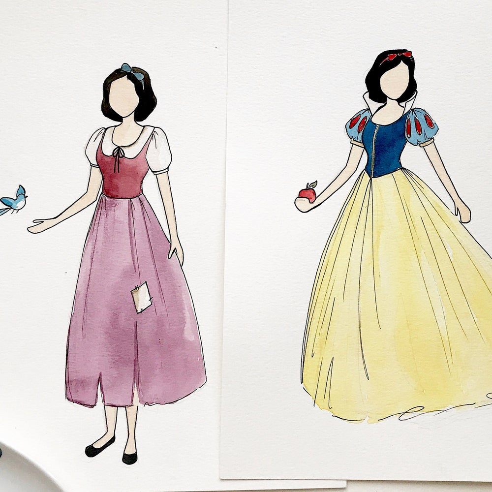 Image of Snow white -  double-sided print