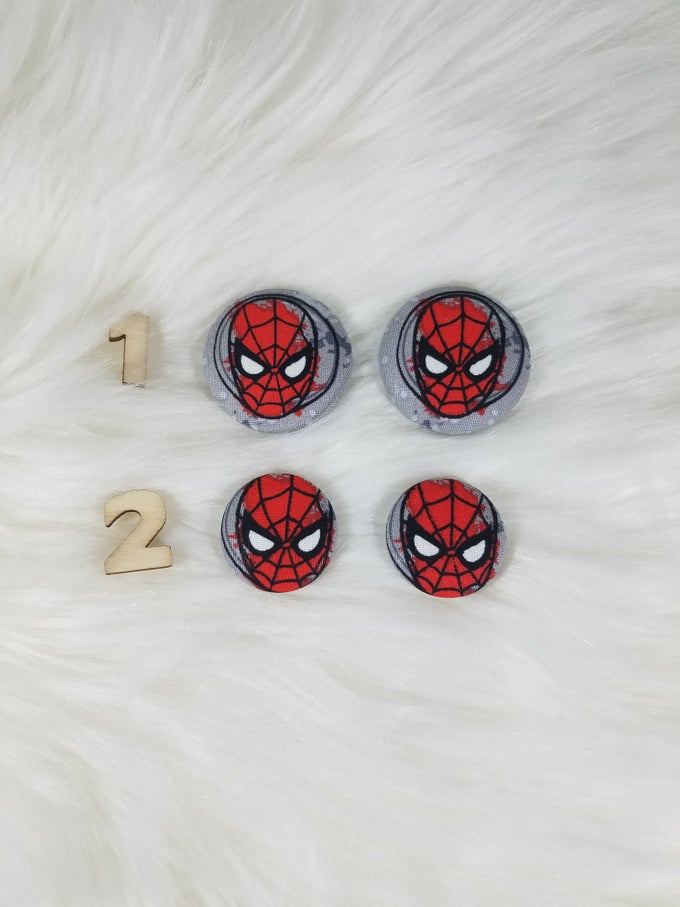 Image of Spider-Man Button Earrings
