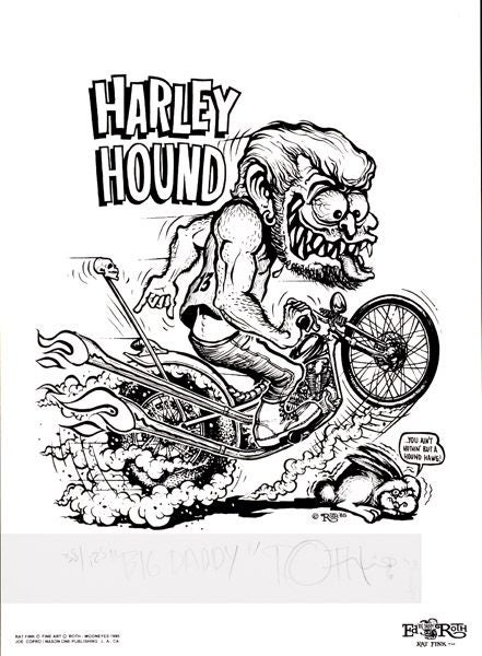 Image of Big Daddy Roth 'Harley Hound' airbrushed