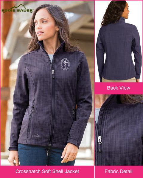 Image of Eddie Bauer ® AWS Soft Shell Crosshatch Jacket ~ starts @