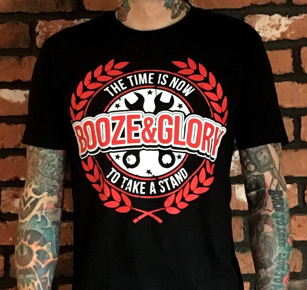 Image of Booze & Glory THE TIME IS NOW Tshirt