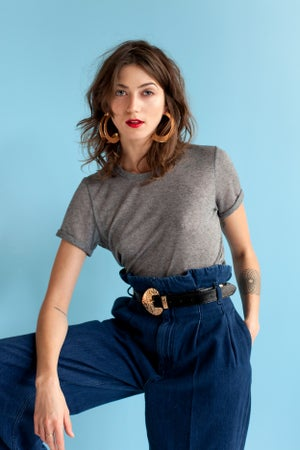Image of -- BRADERIE : Tee-Shirt NILS Gris Chiné --