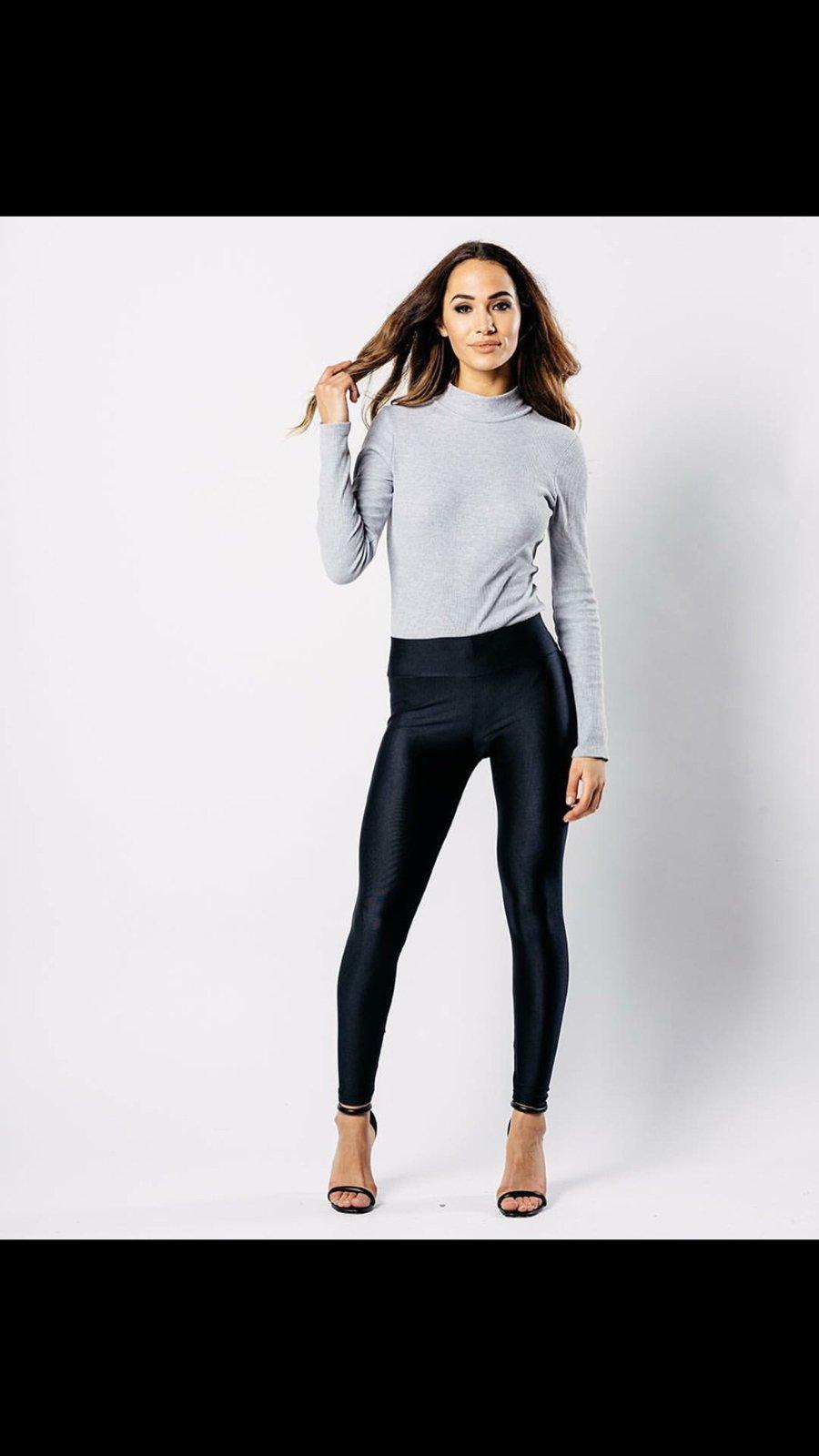 Image of Black disco pants