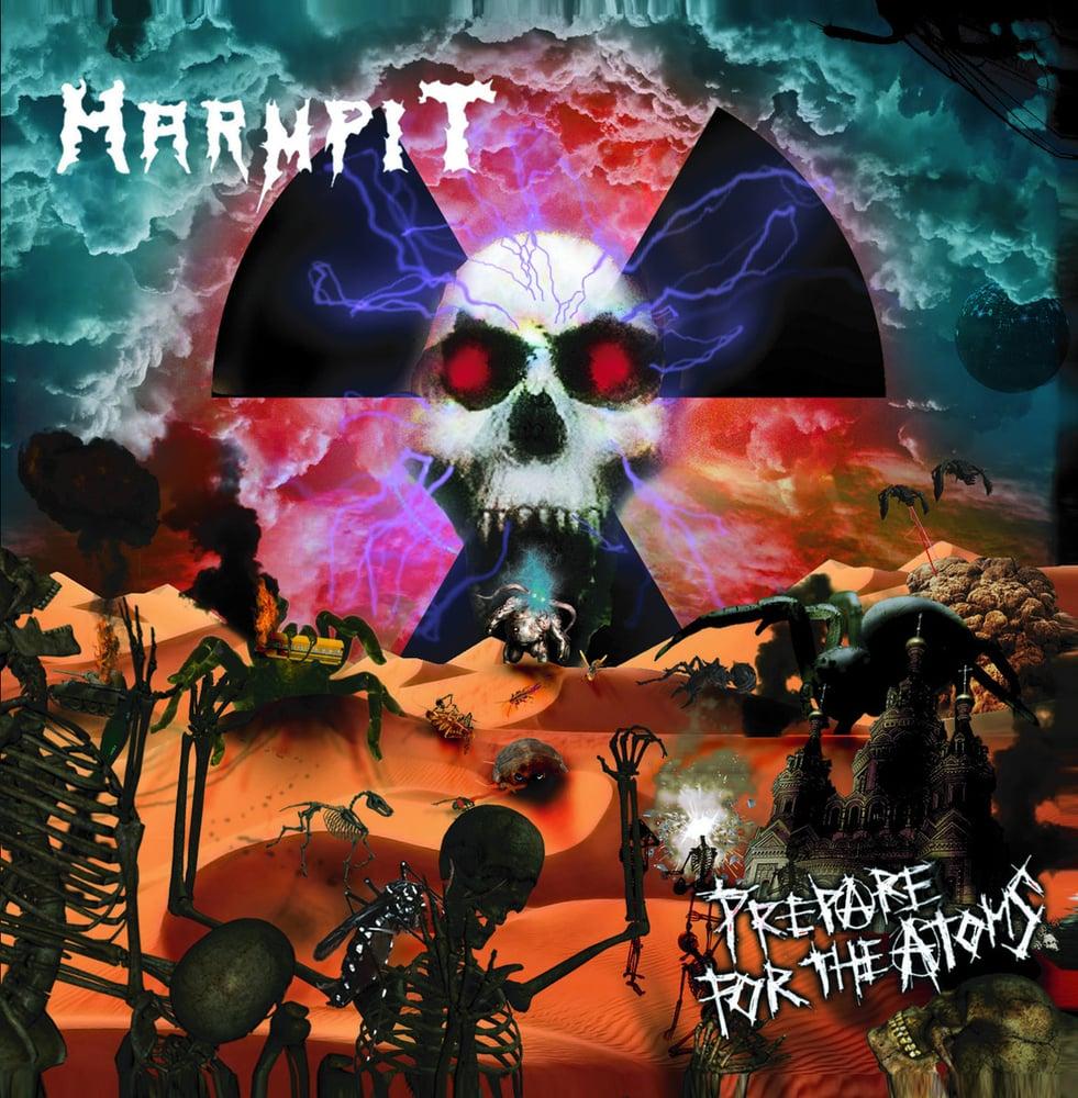 "Image of HARMPIT ""Prepare for the atoms"" debut album. Jewel CD"