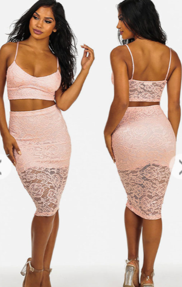 Image of Lace 2pc skirt sets